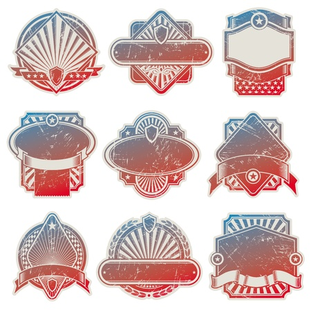 Vector collection of vintage usa labels Vector