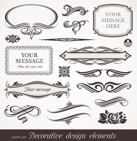 calligraphique: �l�ments d�coratifs vecteur & d�cor de page Illustration