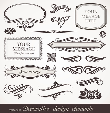floral scroll: Vector decorative design elements & page decor