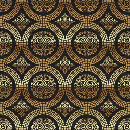 gild: Sfondo seamless Vector - ornamento motivo decorativo dorato Vettoriali