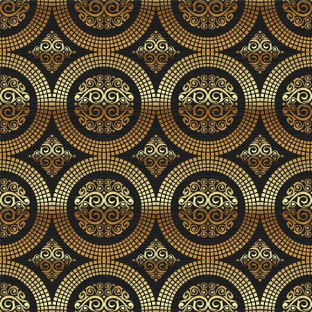 wallpaper rings: Vector seamless background -  ornamental decorative golden pattern