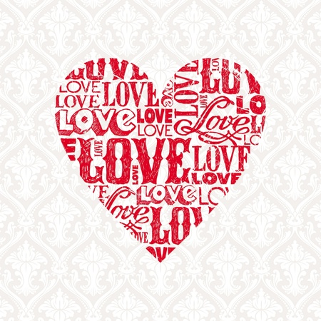 Vector Valentines card with heart Stock Vector - 9945815