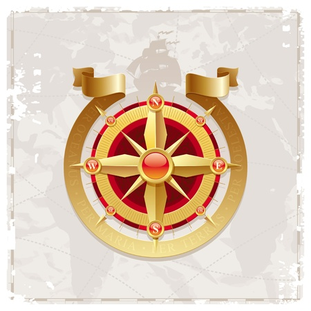 Vector vintage compass rose Vector