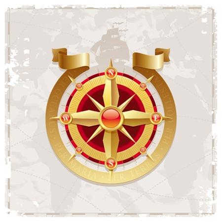 kompassrose: Vektor Jahrgang Compass rose
