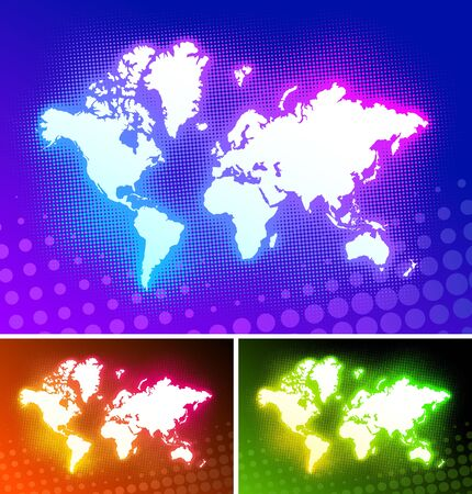dotted world map: Vector world map