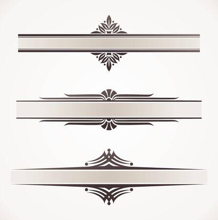 bordure de page: Cadres vecteur d�coratif avec des �l�ments d�coratifs Illustration