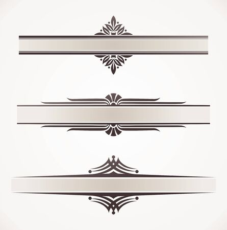 page border: Decorative vector frames with ornamental elements