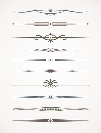 Conjunto de Vecror - deviders de decoración y texto de página
