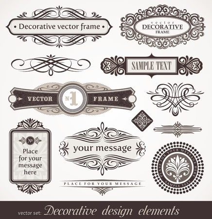 victorian: Decorative vector design elements & page decor