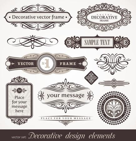 Elementos de diseño decorativo vector & decoración de página Ilustración de vector
