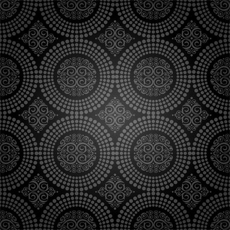 Vector background -  seamless ornamental decorative pattern Vector