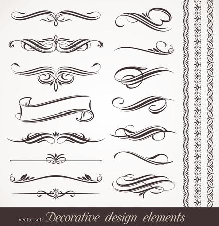 Elementos de diseño decorativo vector & decoración de página