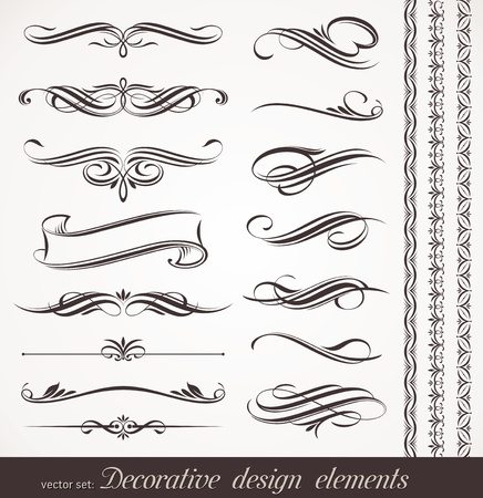caligrafia: Vector decorative design elements & page decor