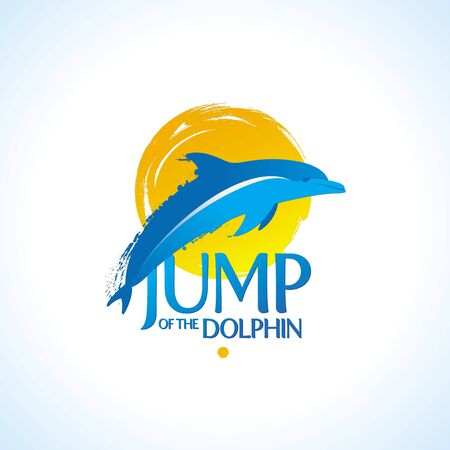 delfin: Vector illustration - dolphin jamp out of the water