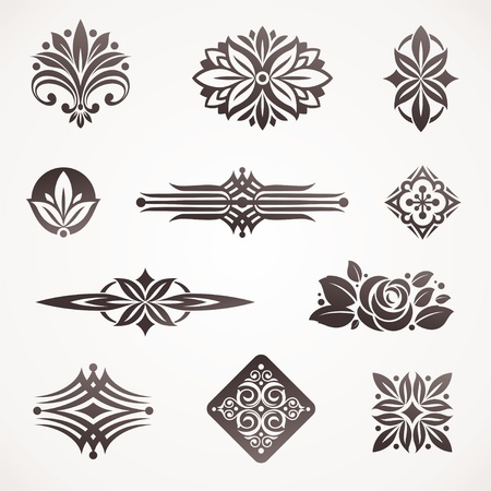 ornamental: Vector page & book decor and design elements