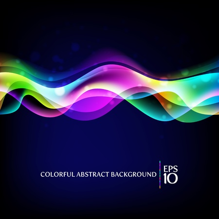 vector waves: Vector abstract background - colorful waves