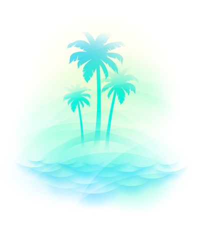 Vector illustration - Tropical island Illustration