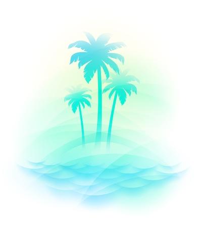 Vektor-Illustration - tropische Insel