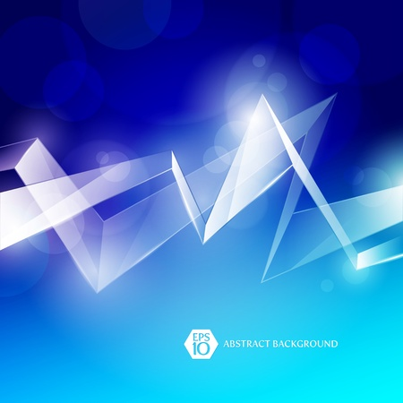 Abstract vector background with glass elements