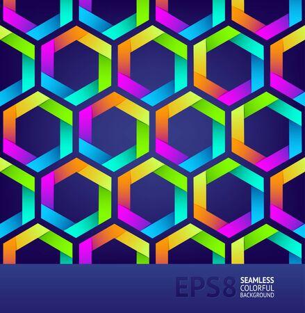 Abstract naadloze achtergrond met kleurrijke zeshoeken