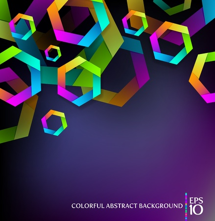 Abstract background with colorful hexagons Vector