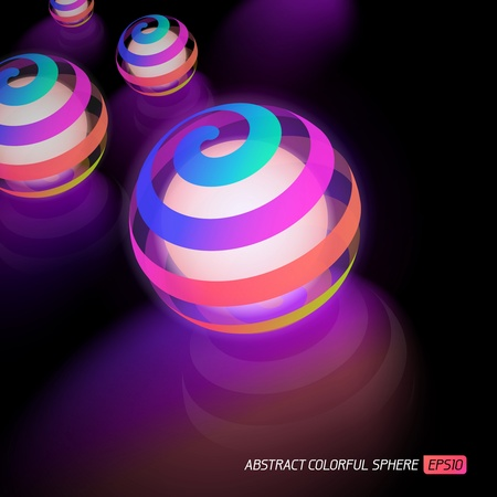 colrful: Abstract vector colorful luminous sphere Illustration