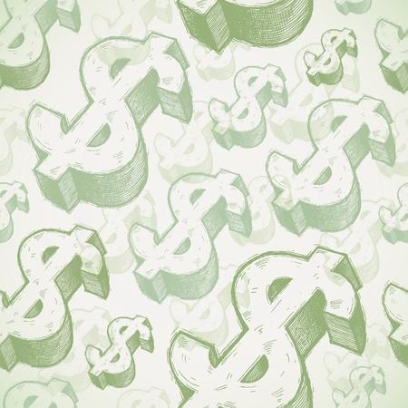 signo pesos: Fondo transparente con signos de d�lar dibujadas a mano