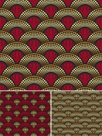 Seamless decorative golden pattern Vector