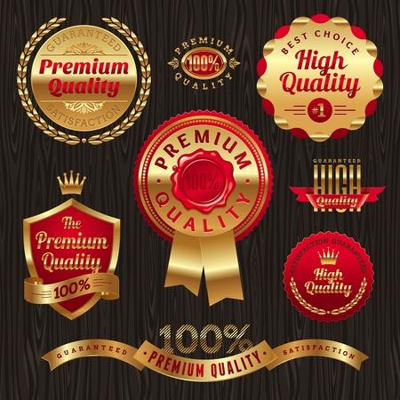 Set mit goldenen G�tesiegel und Embleme Illustration