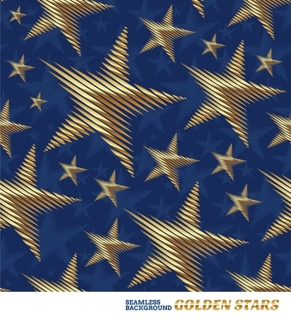 metal pattern: Seamless vector pattern with golden stars