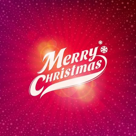 inscription: Holidays card design with inscription - Merry Christmas