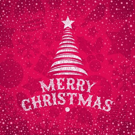 hand drawn Christmas greeting Vector