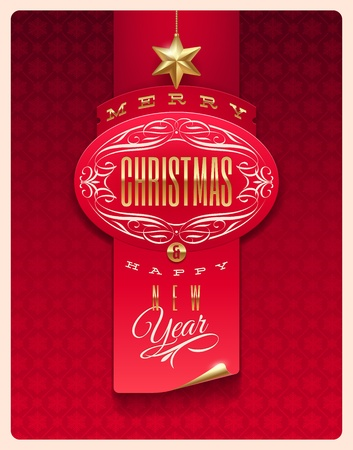 Christmas greeting vector design Vector