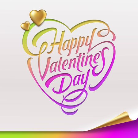 Valentines Day greeting sign - vector illustration Stock Vector - 17312287