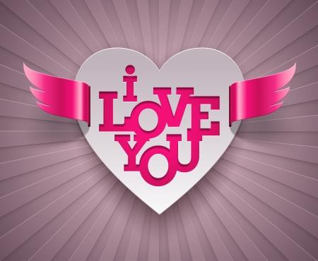 Valentines winged heart - vector illustration Stock Vector - 17312366