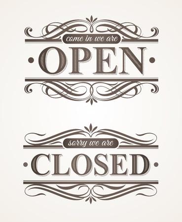 개방 및 폐쇄 - 화려한 복고풍 징후