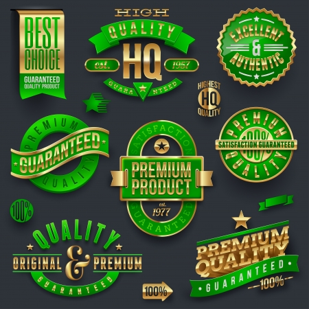 quality stamp: Quality and guaranteed - vector signs, emblems and labels Illustration