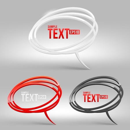 buzz: Abstract glossy speech bubbles - vector illustration