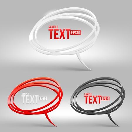 buzzing: Abstract glossy speech bubbles - vector illustration