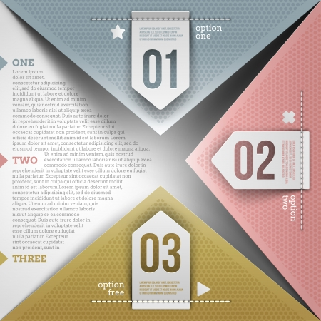 color choice: Abstract infographic design with paper numbered elements - vector illustration