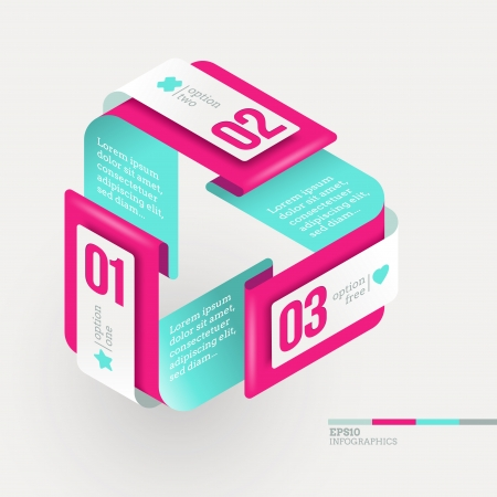 Vector abstract shape with infographics elements Vector