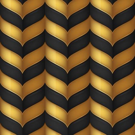 Abstrakt schwarz und gold nahtlose Hintergrund