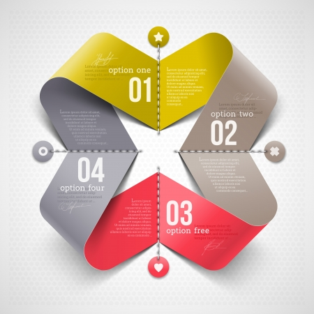 template: Abstract shape with infographics elements