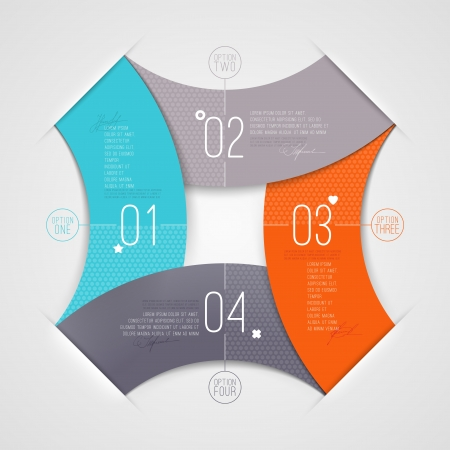 Abstract infographic with numbered elements Vector