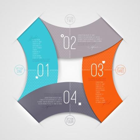 Abstrakte Infografik mit nummerierten Elementen