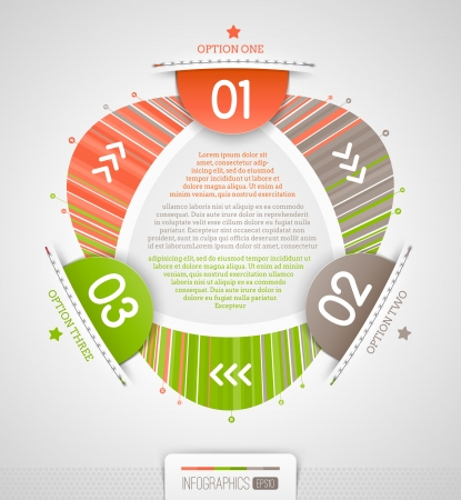 Abstract infographics design with numbered elements illustration Stock Vector - 19059084