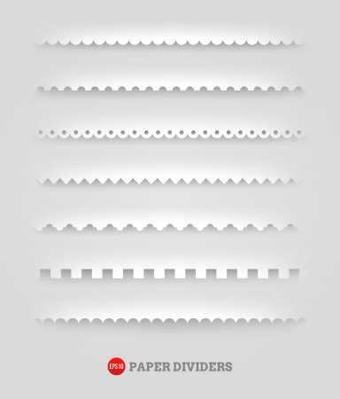 set of paper decorative dividers Vector