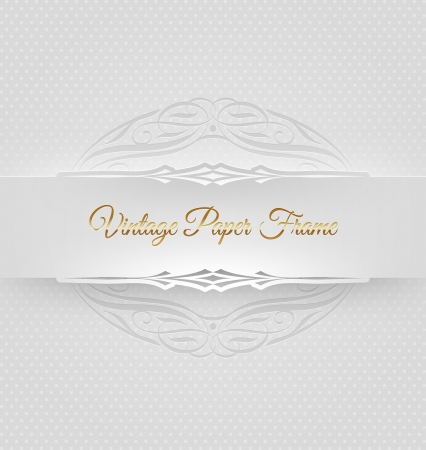Ornamental decorative paper frame -  illustration