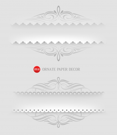 dividing: Ornamental decorative paper frames - illustration Illustration