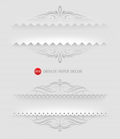 Ornamental decorative paper frames - illustration Illustration